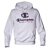 Champion HOODED GRAPHIC AUTH WHITE